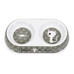Gamelle pour Chat Frichti - gris