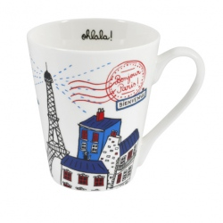 Mug VIVA Bonjour Paris - multicolore