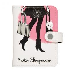 Porte-cartes FOLK Shoppeuse - rose