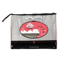 Trousse de toilette CELIA Miss chic - rose/noir