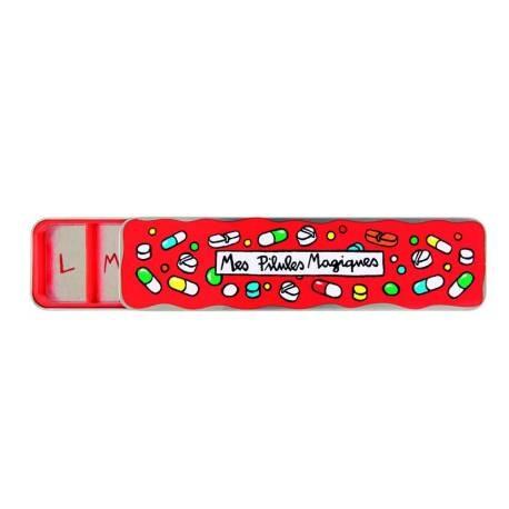 Boite à Pilules (7 comp) Magiques - rouge