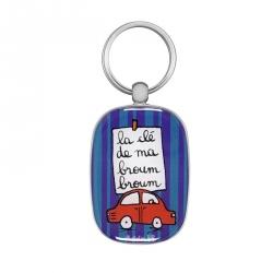 Porte-clés OPAT Broum broum - violet/bleu