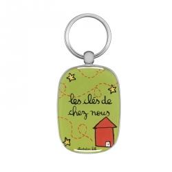 Porte-clés OPAT Chez nous - vert