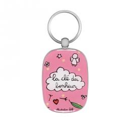 Porte-clés OPAT La clé du bonheur - rose