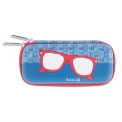 Etui à lunettes BINOCLES Presque parfait - bleu