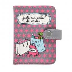Porte-cartes FOLK Ma collec' - rose