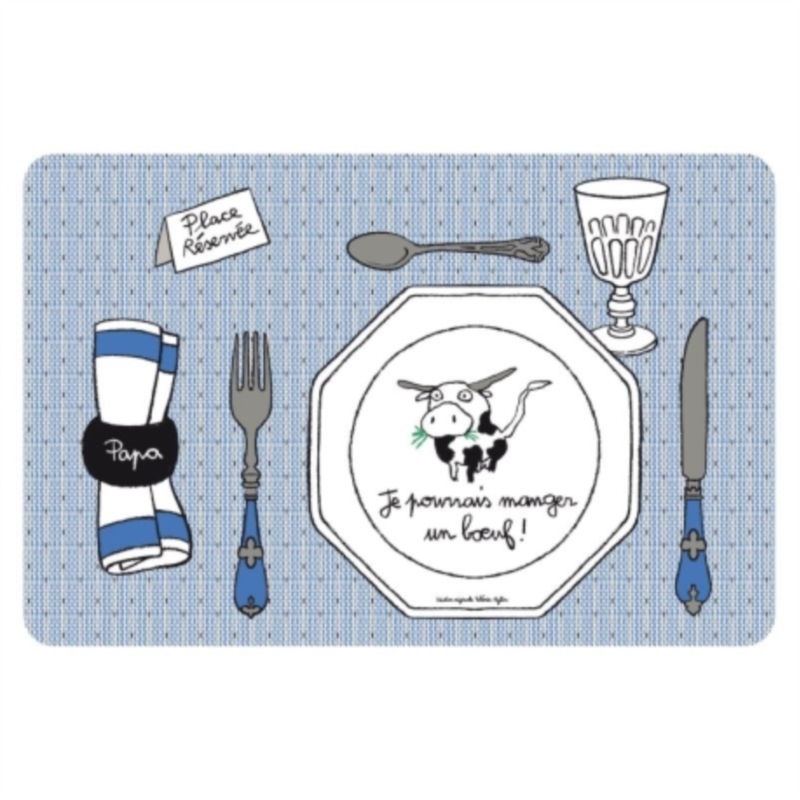 Set de table boeuf bleu - Set de table polypropylene ...