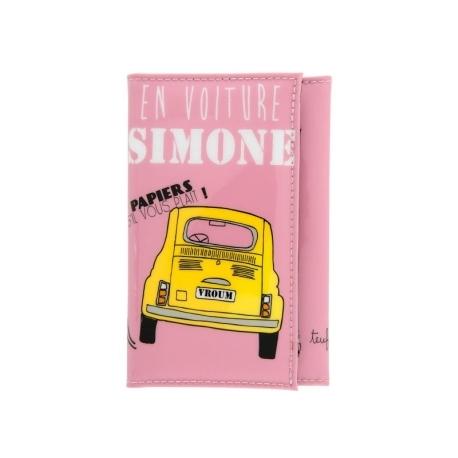 Porte-papiers voiture Simone - rose