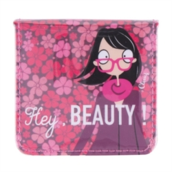 Miroir de poche CEKOUR Hey, Beauty - rose
