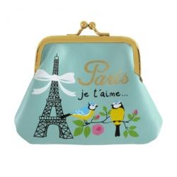 Porte-monnaie LILOU Paris je t'aime - bleu