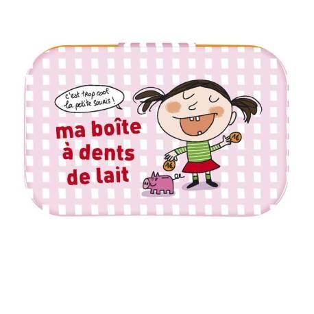 Boite à Dent de lait Fille - rose