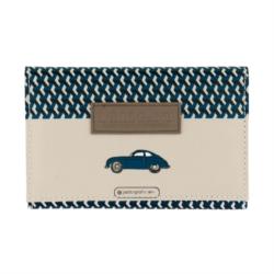 Porte-papiers voiture L'élégant - beige/bleu