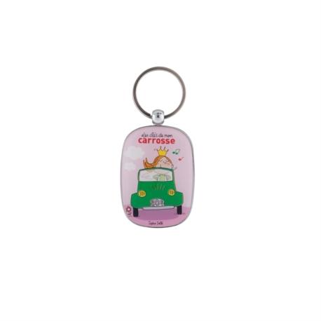 Porte-clés OPAT Carrosse - rose
