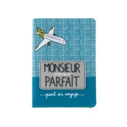 Porte-passeport ETUDE En voyage - bleu
