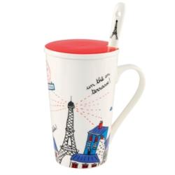 Mug (+ couvercle et cuillère) BUNNY Bonjour Paris 14a0670f62c