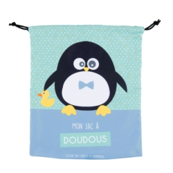 Sac à Doudou ZEN Pingouin garçon