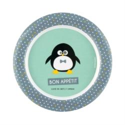 Assiette plate REBORD Pingouin garçon