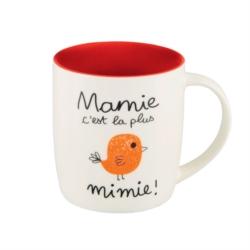 Mug LEMAN (+ boite) Mamie c'est la plus mimie