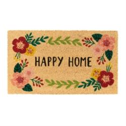 Paillasson COCO/PVC Happy home fleuri