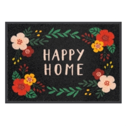 Tapis de patio LEMIYO Happy home fleuri