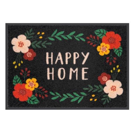Tapis de patio LEMIYO Happy home fleuri