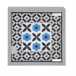 Armoire à clés Carreaux de ciment Bleu