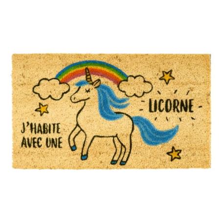 Paillasson COCO/PVC Il y a des licornes