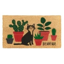 Paillasson COCO/PVC Bienvenue chat plantes