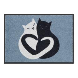 Tapis de patio LEMIYO Black & White Cat