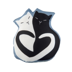 Cale-porte PLACIDE Black & White Cat