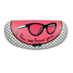 Etui à lunettes BESICLE Monture - noir/rose
