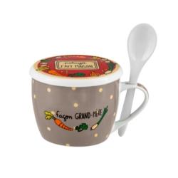 Bol à soupe PERMAN (+ couvercle) Fait Maison Grand-mère