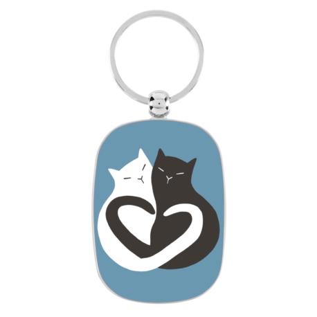 Porte-clés OPAT Black & White Cat