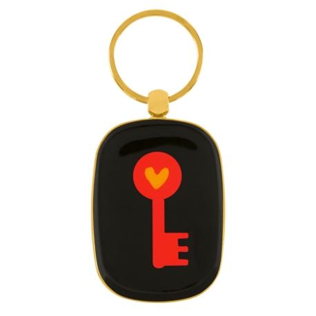 Porte-clés OPAT Doré Clé rouge