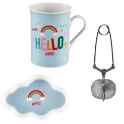 Coffret Mug (+ coupelle et pince à thé) JANPAINCE Hello