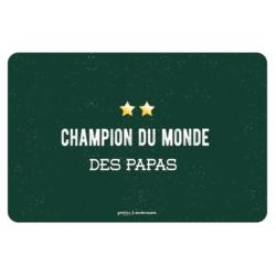 Set de table EMATCH Champion du monde des papas