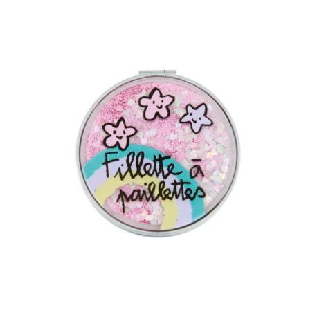 Miroir de poche MUMBO (display de 12) Fillette à paillettes