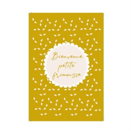 Carte double (+ env) Bienvenue frimousse moutarde