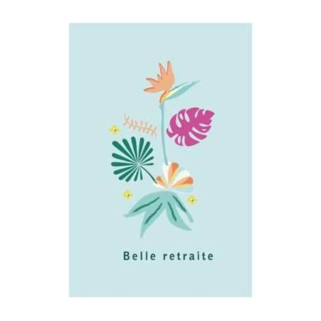 Carte double (+ env) Belle retraite