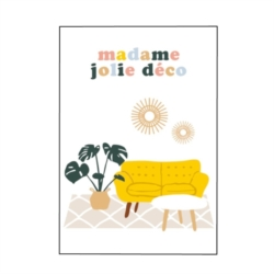 Carte double (+ env) Madame jolie déco