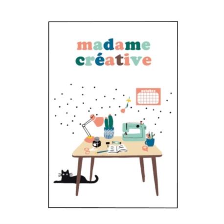 Carte double (+ env) Madame créative