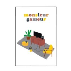 Carte double (+ env) Monsieur gameur