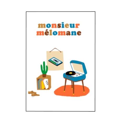 Carte double (+ env) Monsieur mélomane