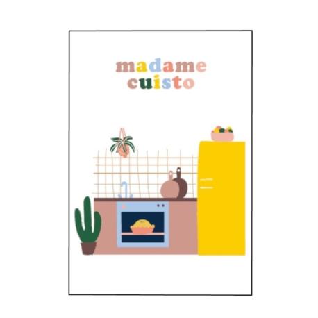 Carte double (+ env) Madame cuisto