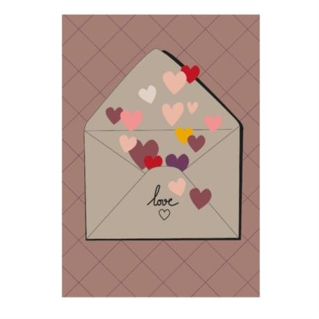 Carte double (+ env) Love