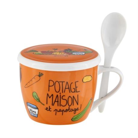 Bol à soupe PERMAN (+ couvercle) Papotage