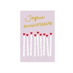 Carte double (+ env) Joyeux anniversaire bougies
