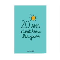 Carte double (+ env) 20 ans