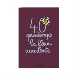 Carte double (+ env) 40 ans