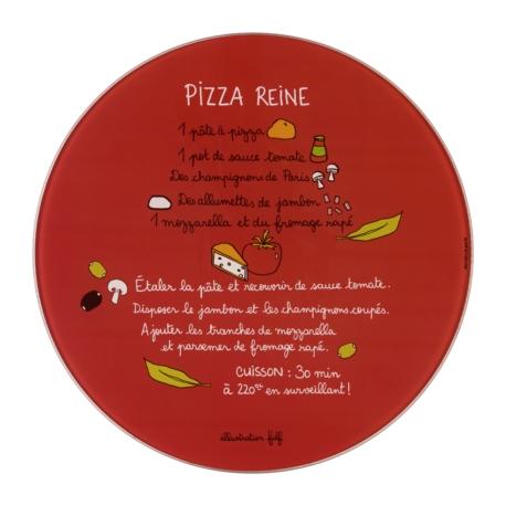 Plat à pizza (+ roulette) PATA Recette pizza reine